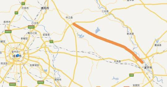 中江至遂宁高速今年开工 计划2021年建成通车
