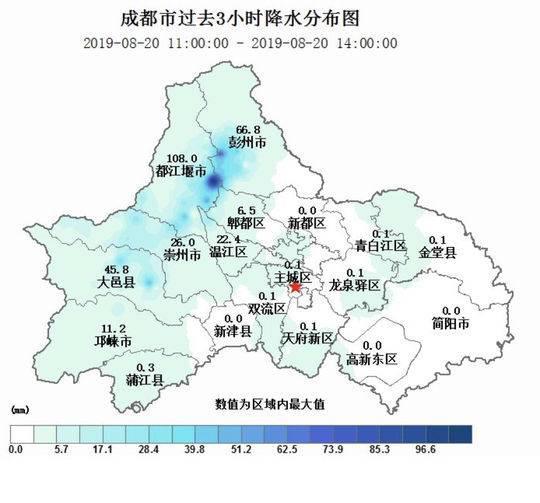 成都西部地区出现强降雨 暴雨黄色预警信号持续生效中