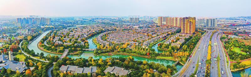 俯瞰金牛,公园城市美丽新图景逐渐呈现。