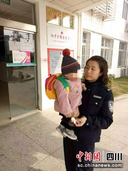 被遗弃的幼儿。 警方提供
