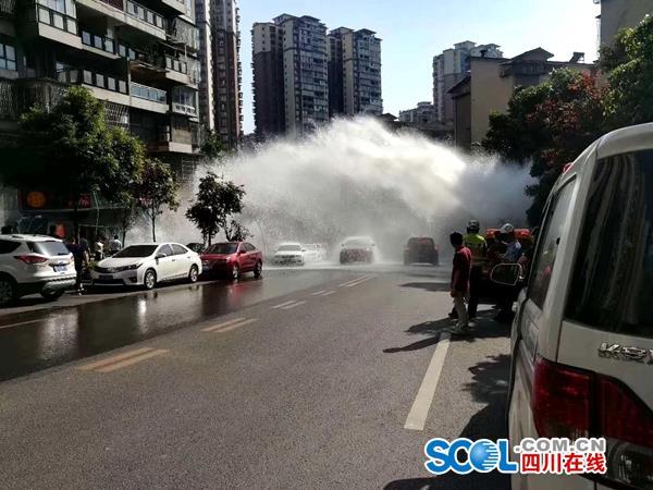 泸州自然水管道爆管后续: 今日2时40分已全面恢复供水