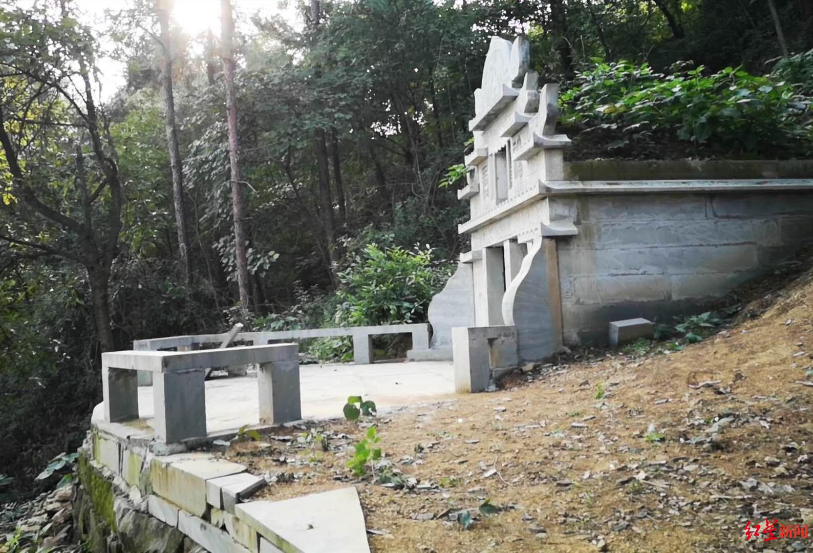 达州退休教师修建双人活人墓 相关部门:当事人已同意拆除