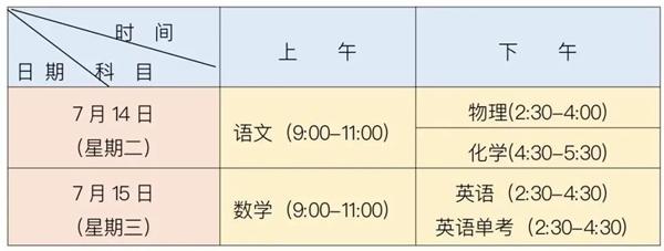 成都中考14日开考 7月29日公布成绩