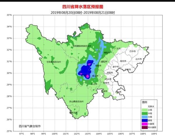 警惕!雅安、汶川等5地20日晚至21日还有暴雨