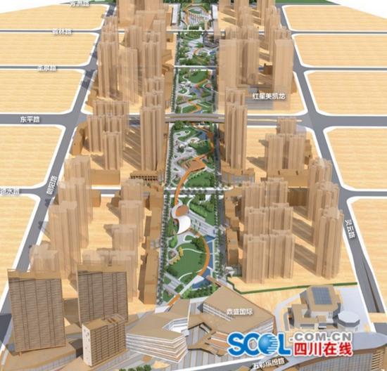 """""""遂宁春熙路""""开工建设 该项目总投资约2亿元"""