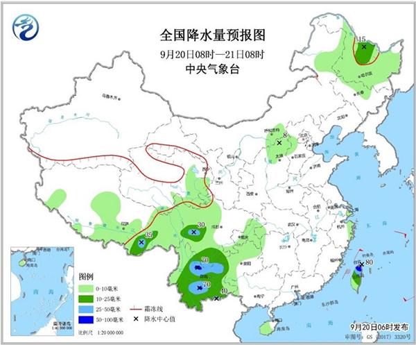 受冷空气和切变线影响 四川西部和南部有降水