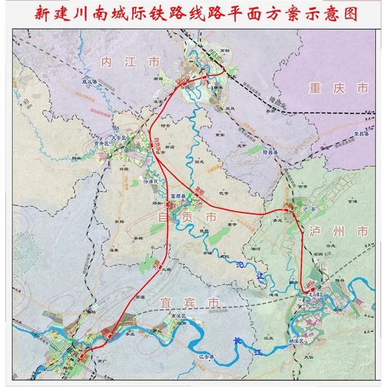 设计时速250km/h 自贡泸州将开启高铁时代
