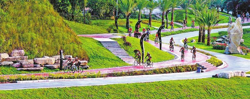 广安协兴骑游道。 广安市委宣传部供图