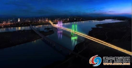 遂宁涪江六桥效果图