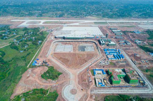 远眺建设中的云龙机场(资料配图)