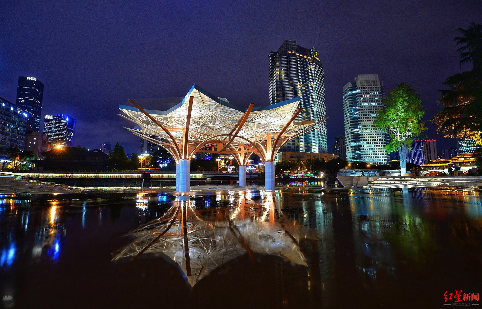 锦江公园音乐广场段年底建成!将与安顺廊桥、合江亭形成两岸三景打卡点