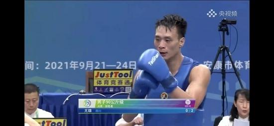 第17金 尤雄摘得武术散打90公斤级金牌