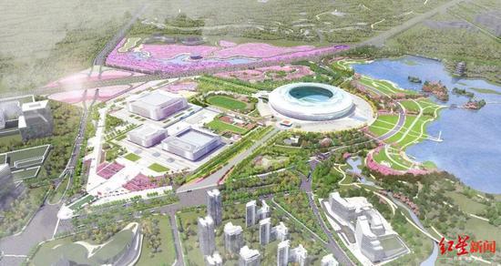▲东安湖体育公园效果图