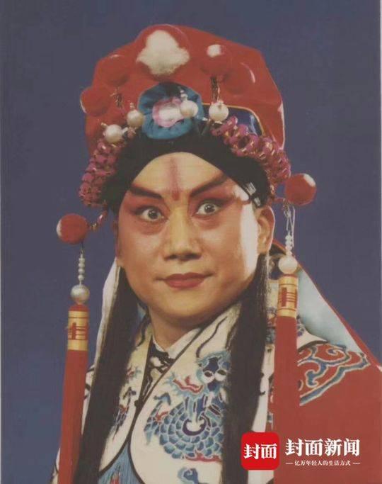 1980年代,川剧《挑袍》蓝光临饰关羽