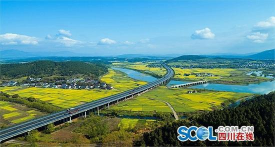 绵广高速扩容项目将采取BOT模式 推荐方案:双向6车道