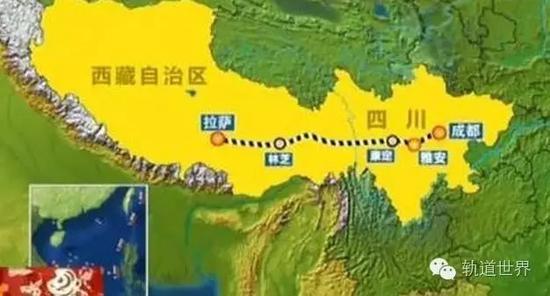 川藏铁路雅安至林芝段建设获批 总投资3198亿元共26站