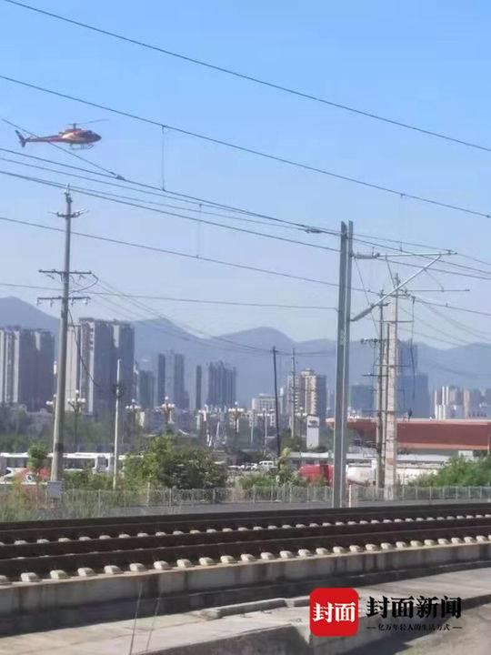 高铁附近惊现直升机 两名驾驶员被处罚