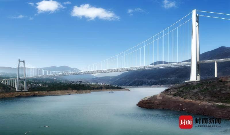 创新施工工艺 四川沿江高速卡哈洛金沙江特大桥开建