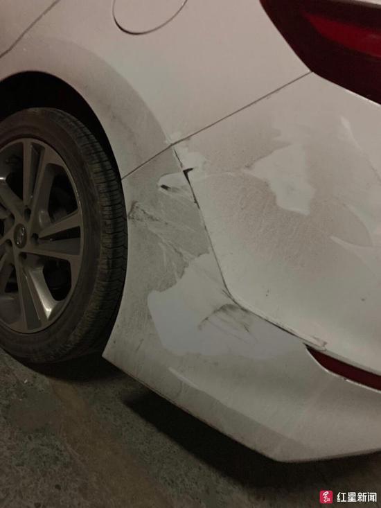 ▲受损汽车