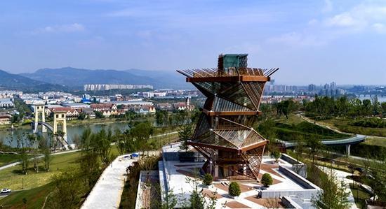 """成都又新增一网红打卡地 高23.9米的""""竹立方""""观景平台来了"""