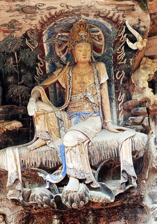 纳入成都资阳旅游年卡的安岳县毗卢洞紫竹观音