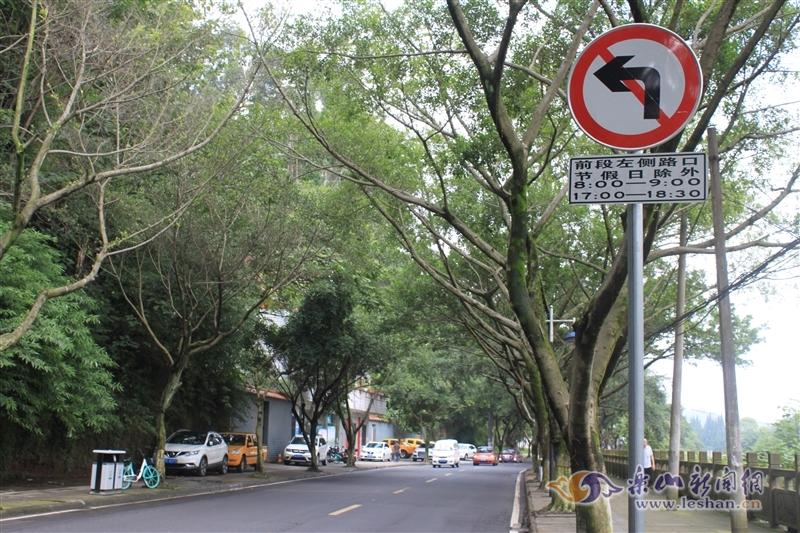 禁止左转标示设置不到位 乐山市民直言注意不到