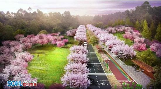 绿心路规划效果图