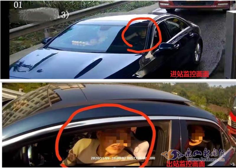 监控画面显示夏某驾车驶入高速公路