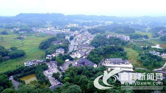 坝上村总体鸟瞰。(资料图)