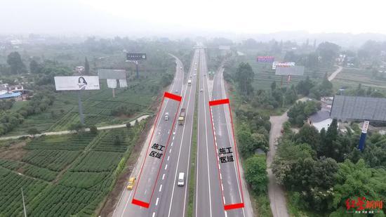 成雅高速新店枢纽开始管制 往返成都的这样绕行