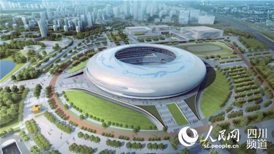 第31届世界大学生运动会开、闭幕式主场馆效果图。建设方供图