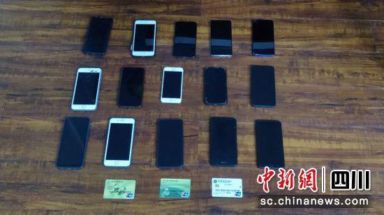 警方收缴的作案工具。 蓬安县委宣传部供图