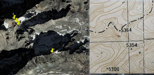 卫星图与等高线地图