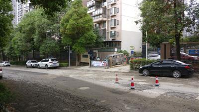茶花街上,鑫苑名家小区车辆进出口