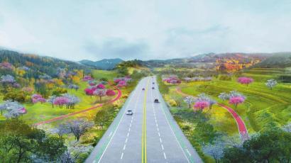 成都龙泉山城市森林公园旅游环线效果图。 成都龙泉山城市森林公园管委会供图