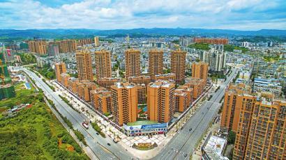 荣县城市面貌日新月异。