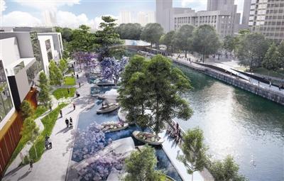 兰桂坊滨水区步行化改造效果图