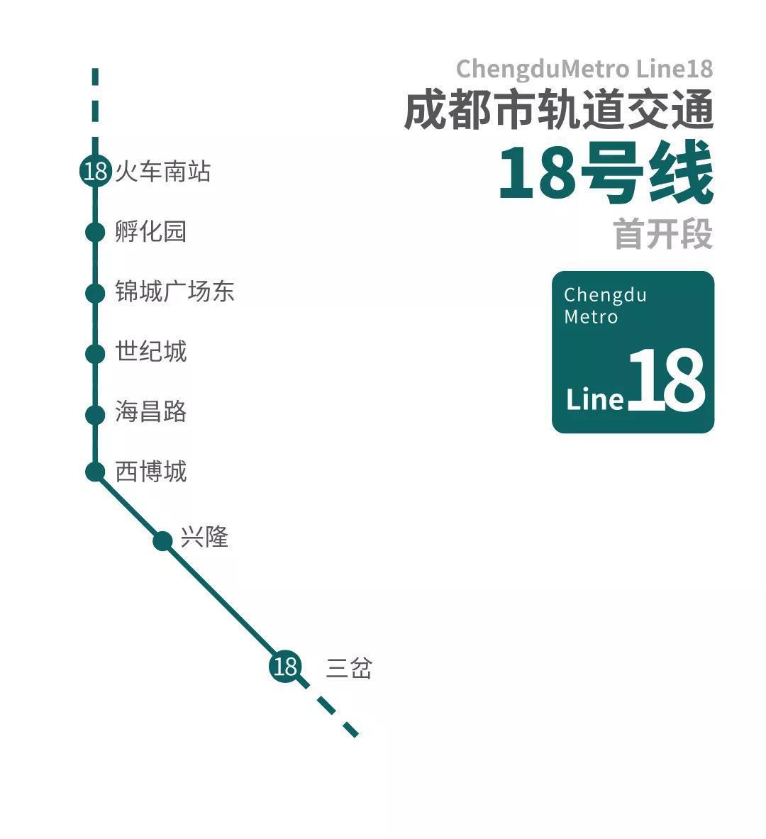 成都轨道交通18号线 年末成都轨道交通运营里程将达557.8公里