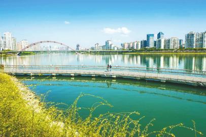 绵阳加强水资源保护,优美的三江湖已成为当地对外的一张名片。 王勇 摄(视觉四川)
