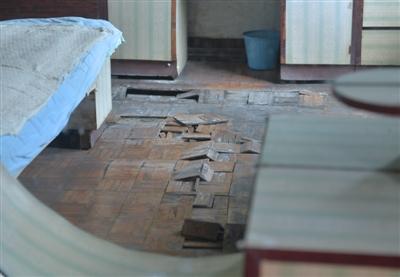 墙面发霉地板翘起 多家住户漏水是楼顶枇杷树惹的祸?