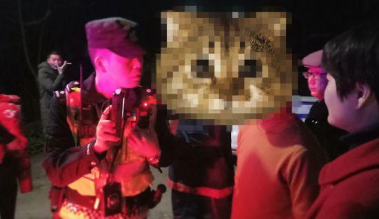 违法嫌疑人被民警挡获(富顺警方 供图)