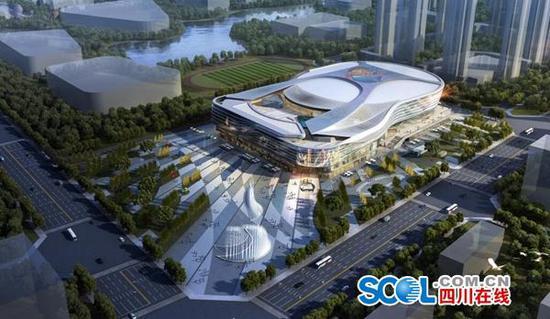 容纳1.4万人!四川首个NBA级别球馆要动工啦