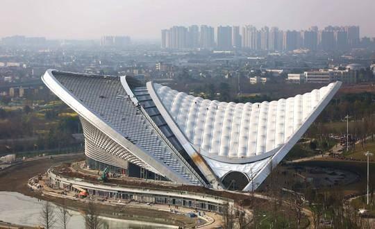 世界最大施工难度不输鸟巢 颜值超高的成都露天音乐公园来了