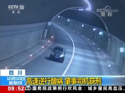 视频丨四川高速一轿车逆行酿祸 肇事司机获刑