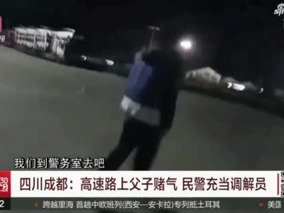 视频丨高速路上父子赌气 四川民警充当调解员