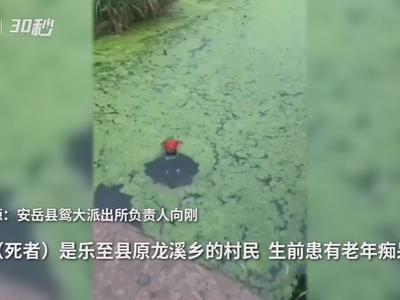 四川乐至一老人离家三日后被发现溺亡 警方:死者患有老年痴呆