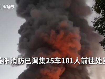 浓烟滚滚!四川广汉一食品厂发生大火 暂无人员伤亡