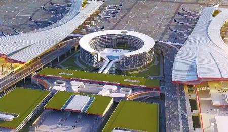 天府机场首个单体建筑封顶 成都国际航线已达109条