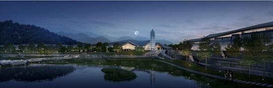 乐山大佛景区南游客中心项目效果图