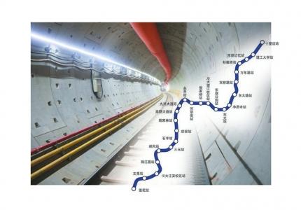 成都地铁8号线一期全线洞通 设25个站途经成都五个区